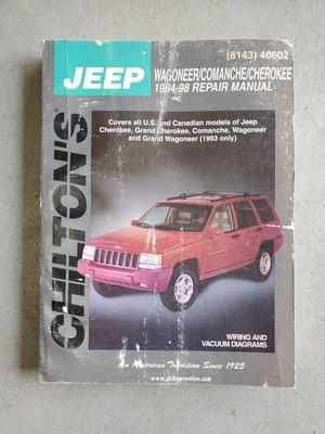 Jeep Cherokee Wagoner Comanche Grand service repair manual book zj xj for Sale in Brighton, CO