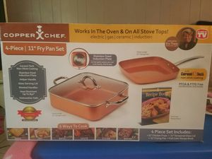 copper chef pan set for Sale in Houston, TX