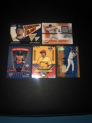 Game used bat and jersey baseball cards for Sale in Arnold, MO