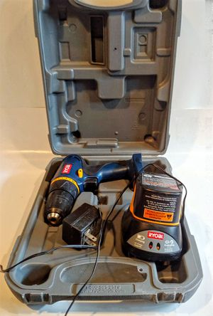 "FUNCTIONAL Ryobi HP472 7.2V 9 NiCd 3/8"" Cordless Drill with carrying case battery and charger. for Sale in Prospect Park, PA"
