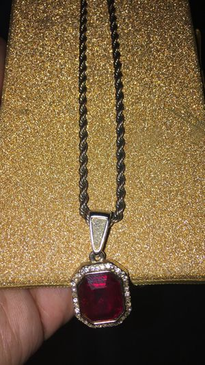 Gold chain with red ruby for Sale in Cleveland, OH