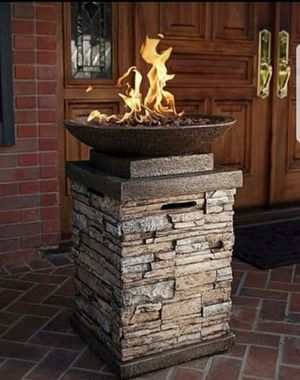 Gas Firebowl Patio Deck Decor Fire Pit Furniture Outdoor Pool Side Garden Porch Decoration Camping for Sale in Toms River, NJ