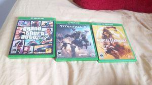 Xbox one GTA V, Titanfall 2, and Mortal Kombat 11 for Sale in Wellsboro, PA