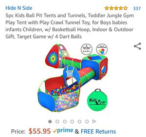 Hide Nside tent and colorful balls for Sale in Fresno, CA