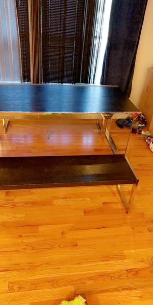 Black wood and Chrome Dining Table for Sale in Boston, MA