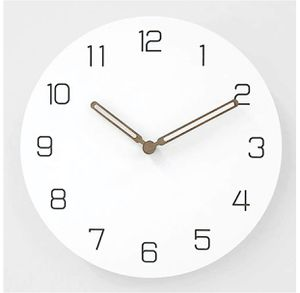 Modern Simple Wooden Wall Clock,Battery Operated Silent Non-Ticking Quartz Decorative Wood Hands Clocks for Living Room Home Office (12 inch) for Sale in New York, NY