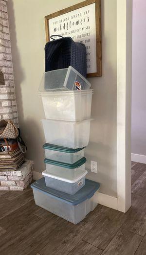 Storage Containers Rubbermaid Bins - TEN for Sale in Phoenix, AZ
