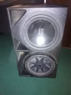 Turbo Bass pro box with kicker and polk audio 12s for Sale in Houston, TX