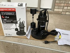New 1/3hp sump pump (retails $135+tax)- 3 available for Sale in Woodridge, IL