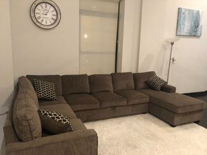 Large Brown Sectional Sofa Couch!! Brand New Free Delivery for Sale in Chicago, IL