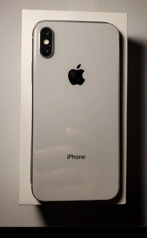 Apple iphone x 256gb silver for Sale in New York, NY