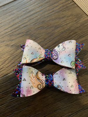 Unicorn hair clips for Sale in Jackson Township, NJ