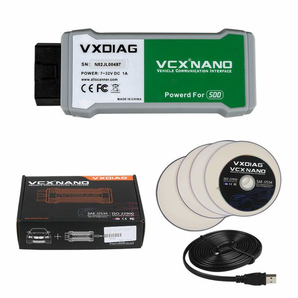 VXDIAG VCX NANO Scanner V159 for Land Rover/Jaguar with SSD Software Updatable