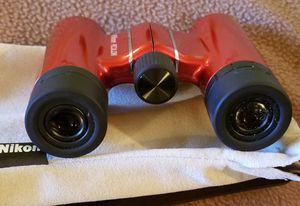 Nikon Aculon T01 8x21 6.3 Degree Pocket Binoculars-Red With Pouch for Sale in Los Angeles, CA