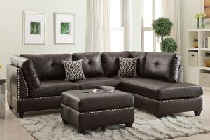 Espresso bonded leather sofa sectional for Sale in Downey, CA