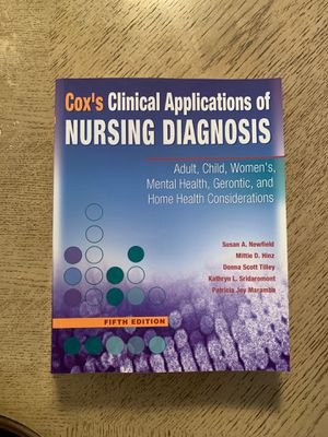 Cox Clinical Applications of Nursing Diagnosis for Sale in Lauderhill, FL