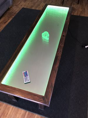 Glass Infinity Mirror Coffee Table for Sale in Boulder, CO