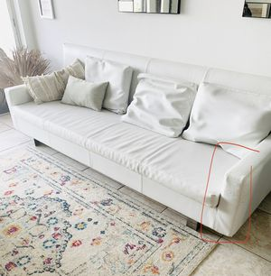 white leather couch for Sale in SUNNY ISL BCH, FL