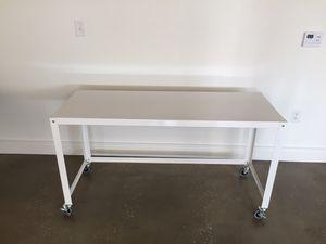 Studio desk, rolling wheels! for Sale in Washington, DC