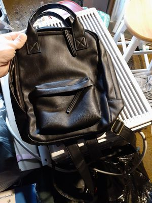 Black leather backpack new for Sale in Boston, MA