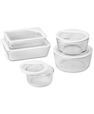 Pyrex 10-Pc. Ultimate White Storage Set for Sale in Anaheim, CA