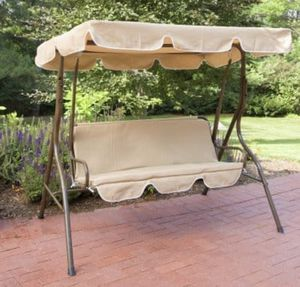 Porch/Patio 3 person swing with canopy-beige for Sale in Corona, CA