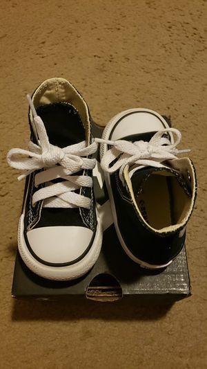 Toddler black converse for Sale in San Antonio, TX