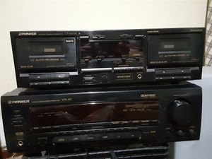 Vintage pioneer receiver & double cassette player for Sale in Columbus, OH