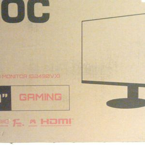 """AOC G2490VXS 24"""" class Frameless Gaming Monitor with Silver Stand, FHD 1920x1080, 1ms 144Hz, FreeSync Premium, 126% sRGB / 93% DCI-P3, 3Yr Re-Spawned for Sale in Los Angeles, CA"""