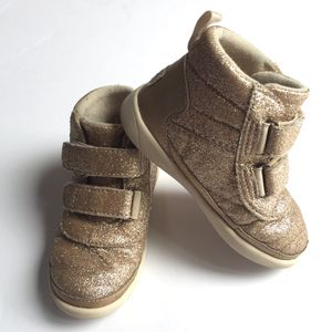 Ugg Gold Toddler 8 Boots Shoes Gold Sparkles Pritchard for Sale in Riverside, CA