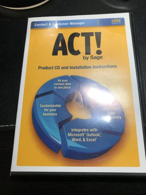 ACT 2008 Contact Manager for Sale in Temecula, CA