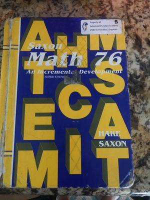Saxon Math 76 Third Edition for Sale in Kailua-Kona, HI