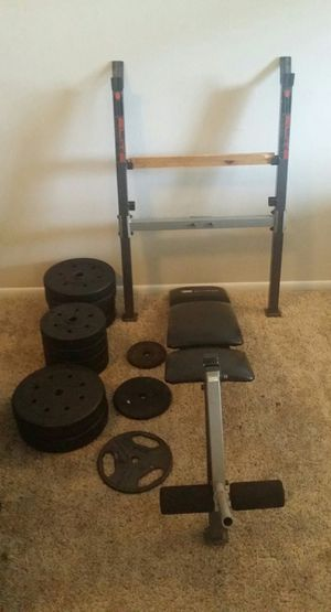 Weight bench and weights for Sale in Deerfield Beach, FL