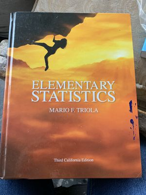 Elementary stats book 3rd edition for Sale in La Puente, CA