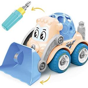 Take Apart Toys for Boys,STEM Bulldozer Toys for 3 4 5 6 7 Year Old Boys and Girls with Drill Tool,BuildYourOwnCarKitforKids,ToyCarsfor3Year for Sale in Haines City, FL