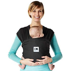 Baby K'tan Breeze Baby Wrap Carrier, Infant and Child Sling-Black L (W Dress 16-20 / M Jacket 43-46). Newborn up to 35 lbs. Best for Babywearing for Sale in Las Vegas, NV