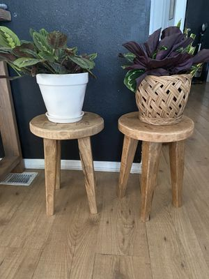 x2 Wood Accent Tables/ Plant Stands for Sale in Long Beach, CA