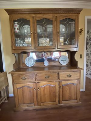 China cabinet with hutch for Sale in Bellevue, TN