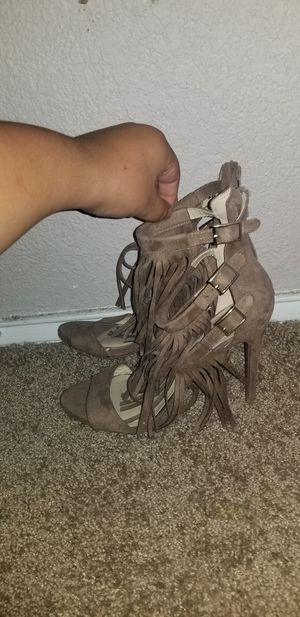 Tan Heels with Fringes for Sale in Grand Prairie, TX