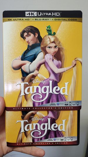 Disney's Tangled 4K and Regular Blu-ray Combo for Sale in Baytown, TX