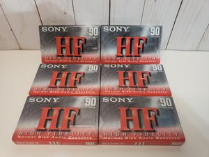 New Vintage Sony 6 Cassette Lot for Sale in Baytown, TX