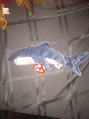 Ty Beanie Baby Crunch the Shark DOB January 13, 1996 for Sale in Clinton Township, MI