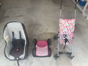 Car seat, booster seat, and stroller for Sale in Elkridge, MD
