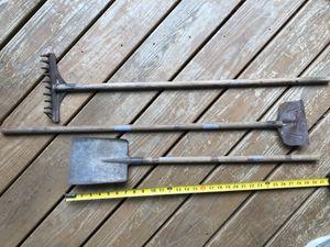 Set of 3 antique children's garden tools for Sale in Raleigh, NC