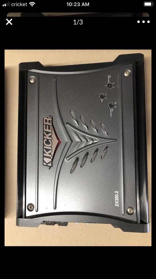 Kicker ZX 350 2 channel Amplifier