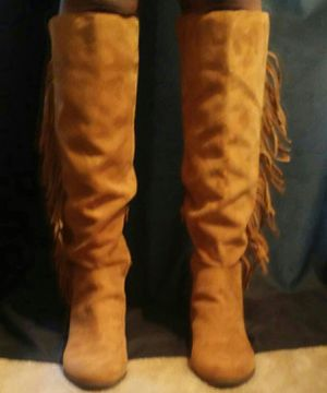 Tan Fringe Boots Size 11 for Sale in Durham, NC
