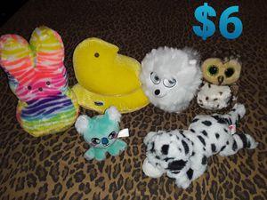 Stuffed animals Bundle with 1 beanie babies for Sale in Hemet, CA