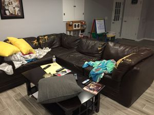 Sofa sectional with free delivery for Sale in Fairfax, VA