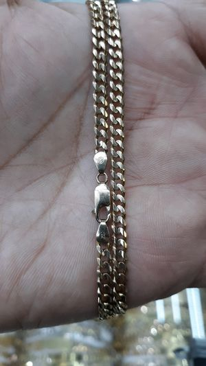 14k gold Cuban link chain hand made 22.7 grams solid 24 inch 4mm for Sale in Los Angeles, CA