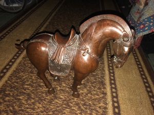 "13.8"" Bronze Collectible Chinese War Horse Statue for Sale in St. Petersburg, FL"